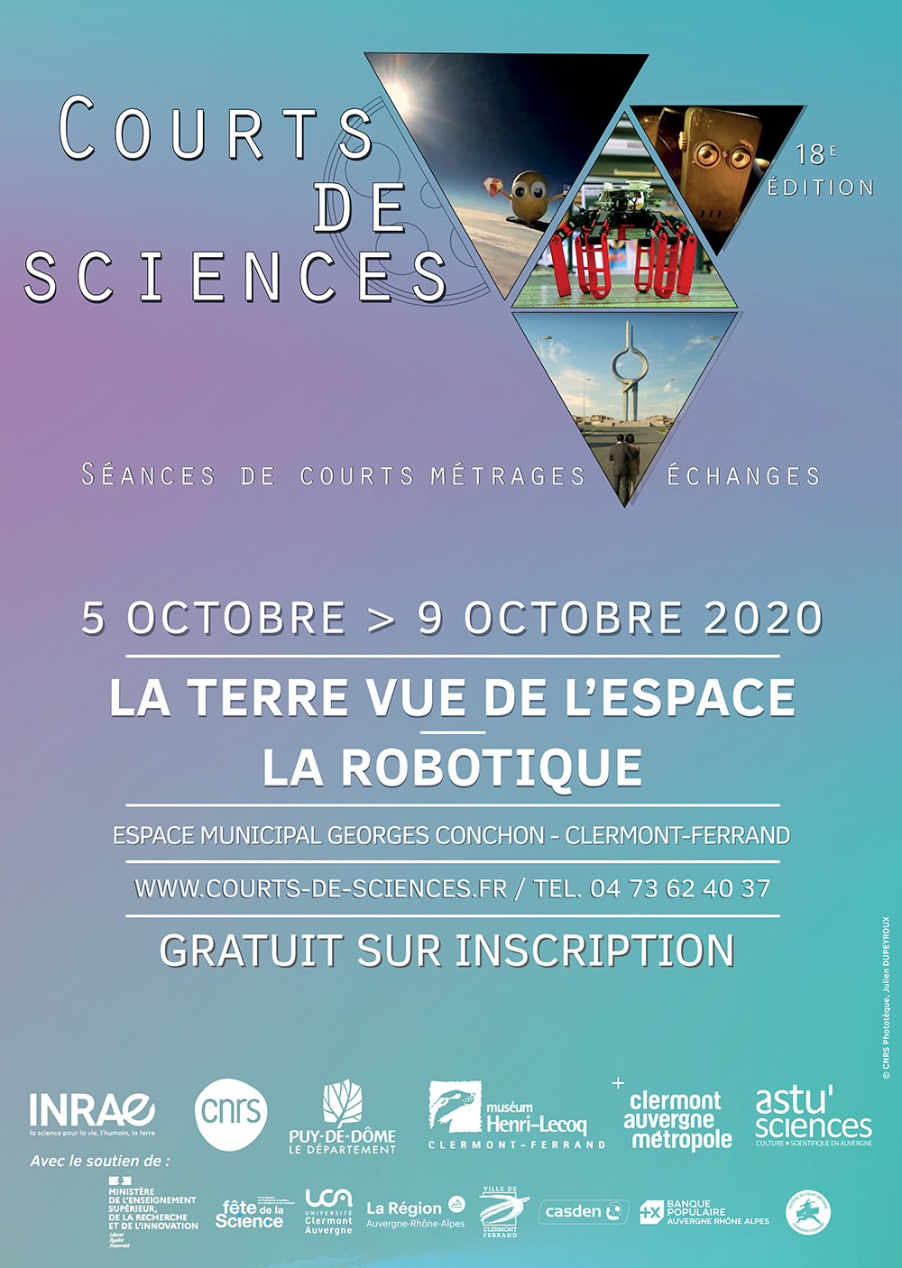 Affiche Courts de science