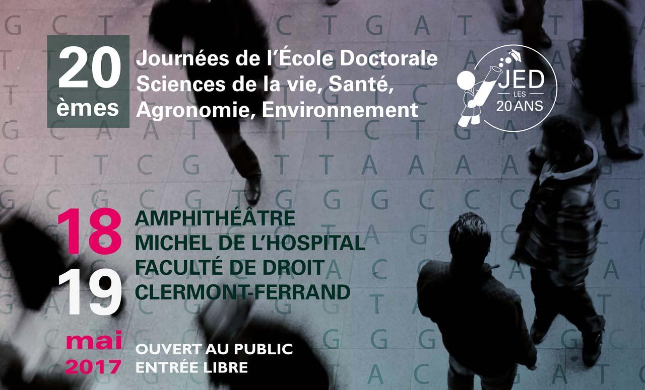 Journées de L'École Doctorale (JED) des Sciences de la Vie, Santé, Agronomie, Environnement (SVSAE)