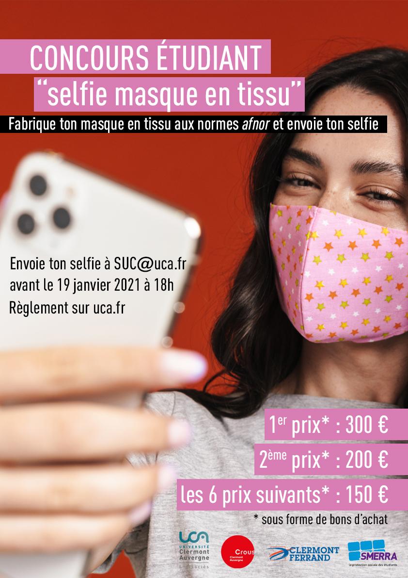 Concours Selfie Masque en tissu
