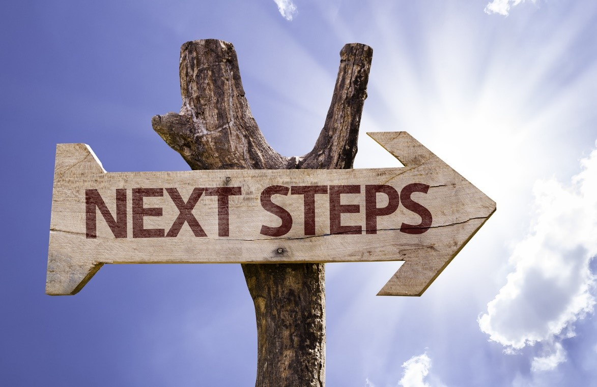 Panneau next steps